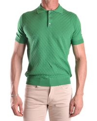 Zanone | Men's Mcbi373002o Green Cotton Polo Shirt | Lyst