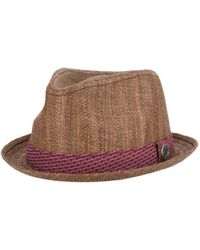 Ben Sherman - Men's Straw With Patterned Band Trilby - Lyst