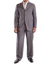 Armani - Men's Mcbi024014o Grey Cotton Suit - Lyst