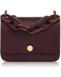 Sophie Hulme - Women's Burgundy Leather Shoulder Bag - Lyst