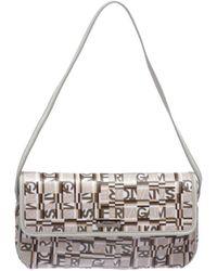 Ferragamo - Pre Owned - White Multicolor Coated Canvas Small Shoulder Handbag - Lyst