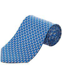 Ferragamo - Blue Rabbit Silk Tie - Lyst
