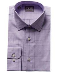 Ike Behar - Glen Plaid Dress Shirt - Lyst
