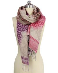 Saachi - Womens Ombre Houndstooth Scarf - Lyst
