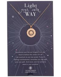 Dogeared - Light Your Own Way 14k Rose Gold Plated Necklace - Lyst