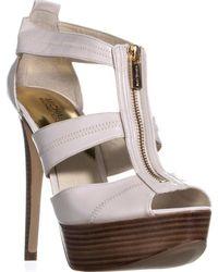Michael Kors - Michael Berkley T-strap Platform Sandals, Vanilla - Lyst