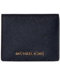 MICHAEL Michael Kors   Jet Set Leather Travel Flap Card Holder Wallet   Lyst