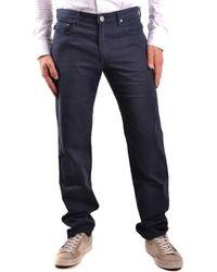 Burberry - Men's Blue Cotton Jeans - Lyst