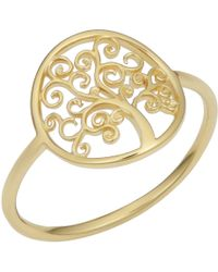 Jewelry Affairs - 14k Yellow Gold Tree Of Life Ring - Lyst