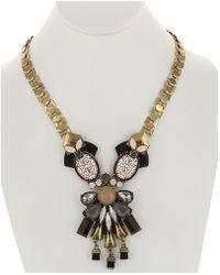 Sparkling Sage - 14k Plated Crystal & Resin Necklace - Lyst