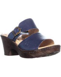 Born - Carrabelle Buckle Slip On Platform Sandals - Lyst