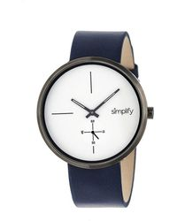 Simplify - The 4400 Leather-band Watch - Lyst