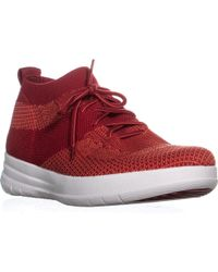 Fitflop - Uberknit Slip-on High Top Trainers, Classic Red - Lyst