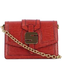 Serapian - Women's Red Leather Shoulder Bag - Lyst