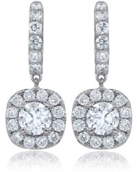 Diana M. Jewels - 18k White Gold Stud Earrings With 1.50 Carats Of Total Diamond Weight - Lyst