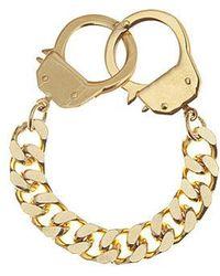 Eklexic - Men's Handcuff Clasp Bracelet (gold) - Lyst