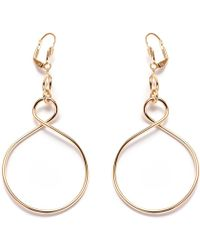 Peermont - Gold Figure 8 Drop Earrings - Lyst
