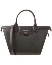 Longchamp - Heritage Medium Leather Top Handle Tote - Lyst
