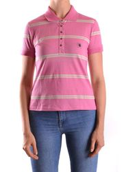 CoSTUME NATIONAL - Women's Pink Cotton Polo Shirt - Lyst