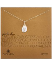 Dogeared - 14k Over Silver 16-18mm Keshi Pearl Necklace - Lyst