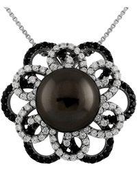 Splendid - Black Shell Pearl Pendant Set In Sterling Silver - Lyst