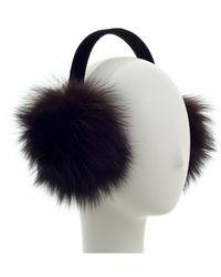 Surell - Fox Fur Earmuff - Lyst