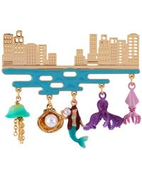 Les Nereides - I Am A Mermaid City And Underwater Life Brooch - Lyst