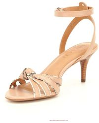 COACH - Womens Meg Leather Open Toe Casual Ankle Strap Sandals - Lyst