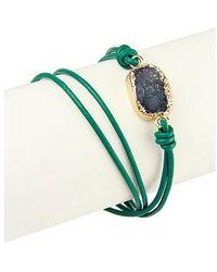 Saachi - Crystal Wrap Bracelet - Lyst