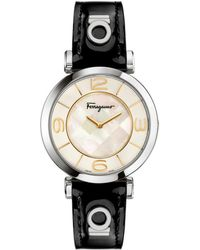 Ferragamo | Ladies Swiss Gancino Deco Watch | Lyst