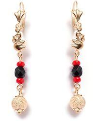 Peermont - Black & Red Elephant Drop Earrings - Lyst