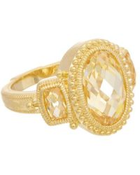 Judith Ripka - Gold Over Silver Cz Ring - Lyst