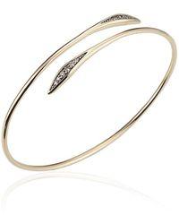 Jewelista - Diamond Bypass Bracelet In 14k Yellow Gold - Lyst