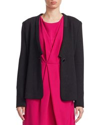 Armani - Solid Button Jacket - Lyst