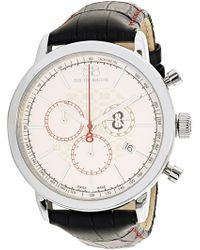 88 Rue Du Rhone - Men's Double 8 Origin 87wa140034 Black Leather Swiss Quartz Dress Watch - Lyst