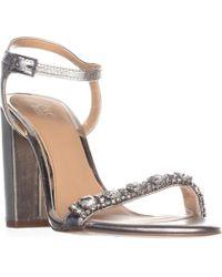 Badgley Mischka - Jewel By Hendricks Rhinestone Dress Sandals, Silver - Lyst