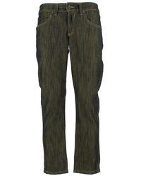 Jeckerson - Women's Black/gold Cotton Jeans - Lyst