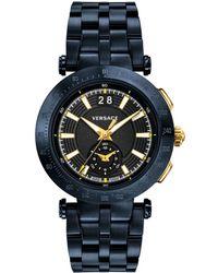Versace - Men's V-race Swiss Stainless Steel Watch, Model: Vah050016 - Lyst