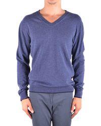 Jacob Cohen - Men's Mcbi160498o Blue Cashmere Sweater - Lyst