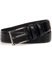 Andrea Zori - Men's Black Leather Belt - Lyst