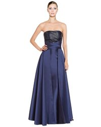 Pamella Roland - Embellished Strapless Ball Gown - Lyst