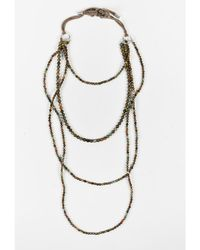 Brunello Cucinelli - 1 Brown Multicolor Beads Long Layered Necklace - Lyst