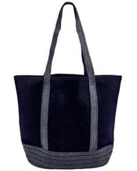 San Diego Hat Company - Women's Canvas Tote With Paperbraid Handles Bsb1705 - Lyst