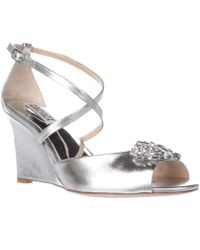 a8cff2f25e9e Lyst - Casadei 1194 Women Open Toe Patent Leather Wedge Sandal in Pink
