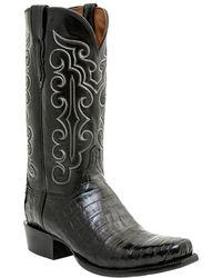 Lucchese - Men's Hornback Caiman Crocodile Boot - Lyst