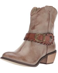 Roper - Mae (faux Tan Leather Vamp) Cowboy Boots - Lyst