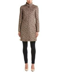 Cinzia Rocca - Novelty Printed Alpaca & Wool-blend Coat - Lyst