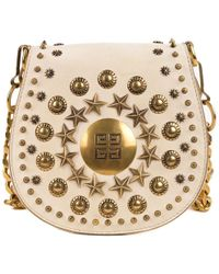 90b08f5941 Givenchy - Cream Ivory Star Sudded Saddle Small Flap Shoulder Bag - Lyst