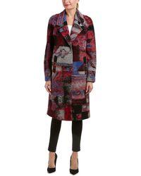 Elie Tahari - Wool-blend Coat - Lyst