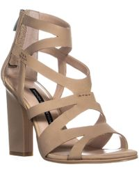 French Connection - Isla Strappy Heel Sandals, Sand - Lyst